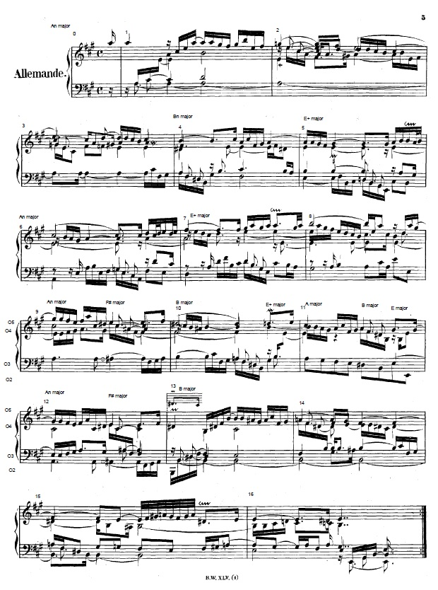Score of the first 16 measures