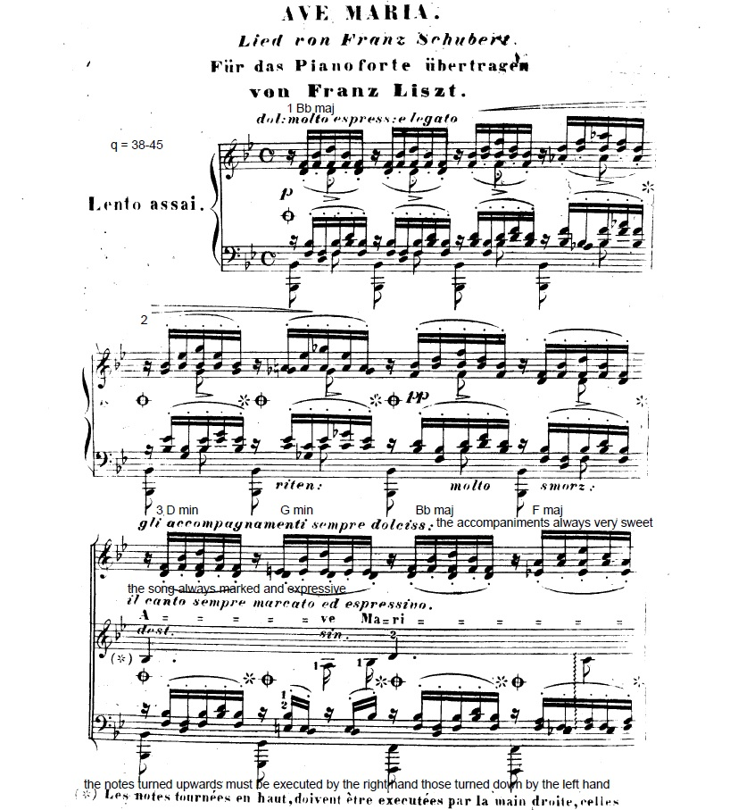 Ave Maria first page